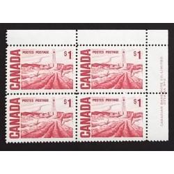 Canada 465Biii Plate Block UR Plate No. 2 VF MNH