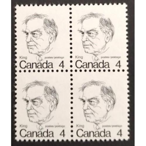 Canada 589T1 Block Untagged Error VF MNH