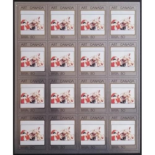 Canada 1419 Full Sheet Pane Field Stock VF MNH