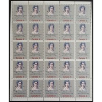 Canada 620 Sheet Pane Field Stock VF MNH