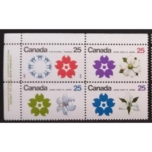 Canada J37ii Plate Block UR F-VF MNH