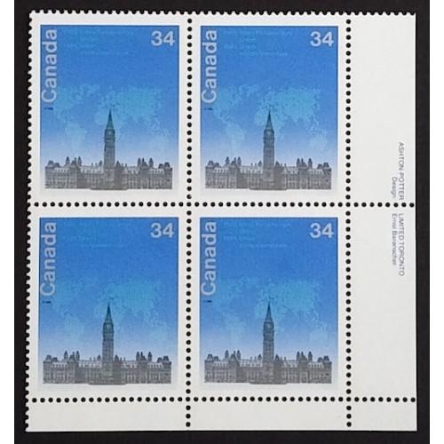 Canada 921 Plate Block VF MNH (Choose a Corner)