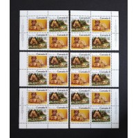Canada 567aii Plate & Margin Blocks Matched Set VF MNH