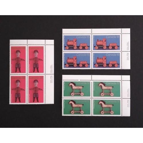 Canada 839-41 Plate Blocks UR VF MNH
