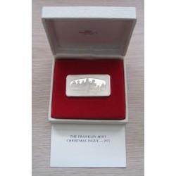 U.S. 1973 Franklin Mint Christmas Silver Ingot