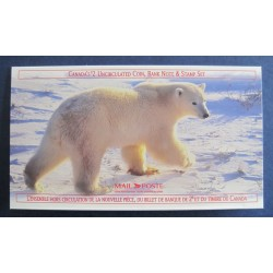 Canada TC70 Polar Bear Stamp, Coin and Bank Note Set