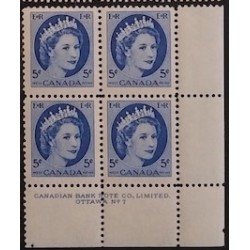 Canada 341ii Plate Blocks Matched Set Plate No. 7 VF MNH