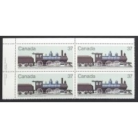 Canada 1038 Plate Block UL with Variety VF MNH
