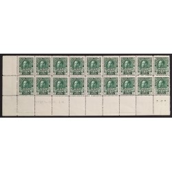 Canada MR1 Strip / Plate Block of 18 Rare F-VF MNH