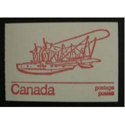 Canada BK74a (BK74n) Booklet - Stranraer w/ Variety 593xv