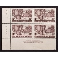 Canada 301 Plate Block LL Plate No. 1 VF MNH