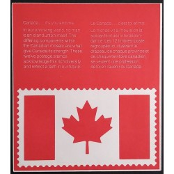 Canada 832a Mini Pane Pane UL with Envelope VF MNH